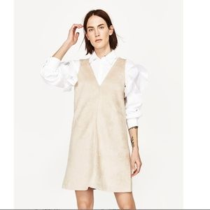 Suede Effect Zara Dress